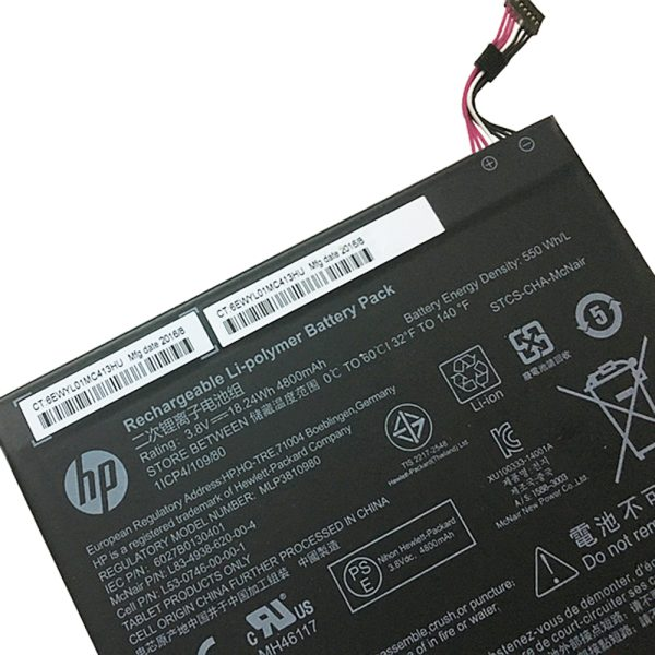 New Tablet battery for HP 803187-001,T5L65PA, L4A35UT